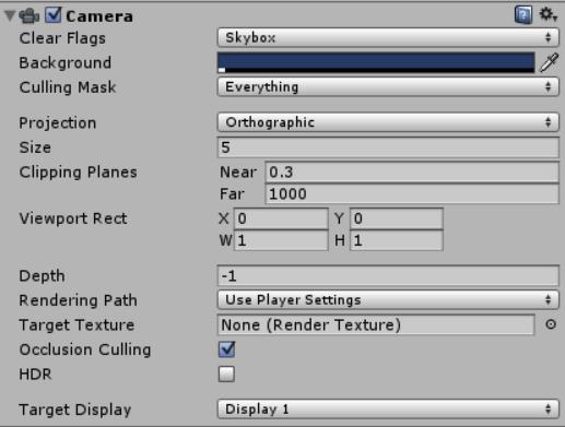 Câmera ortográfica no Unity