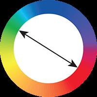 Cores opostas no círculo cromático