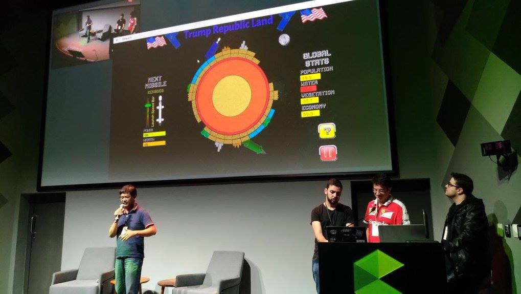 Apresentação do jogo feito na Ludum Dare no Meetup GDBR, no Campus SP do Google