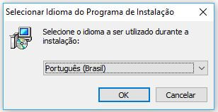 Instalando o GIMP selecionando idioma
