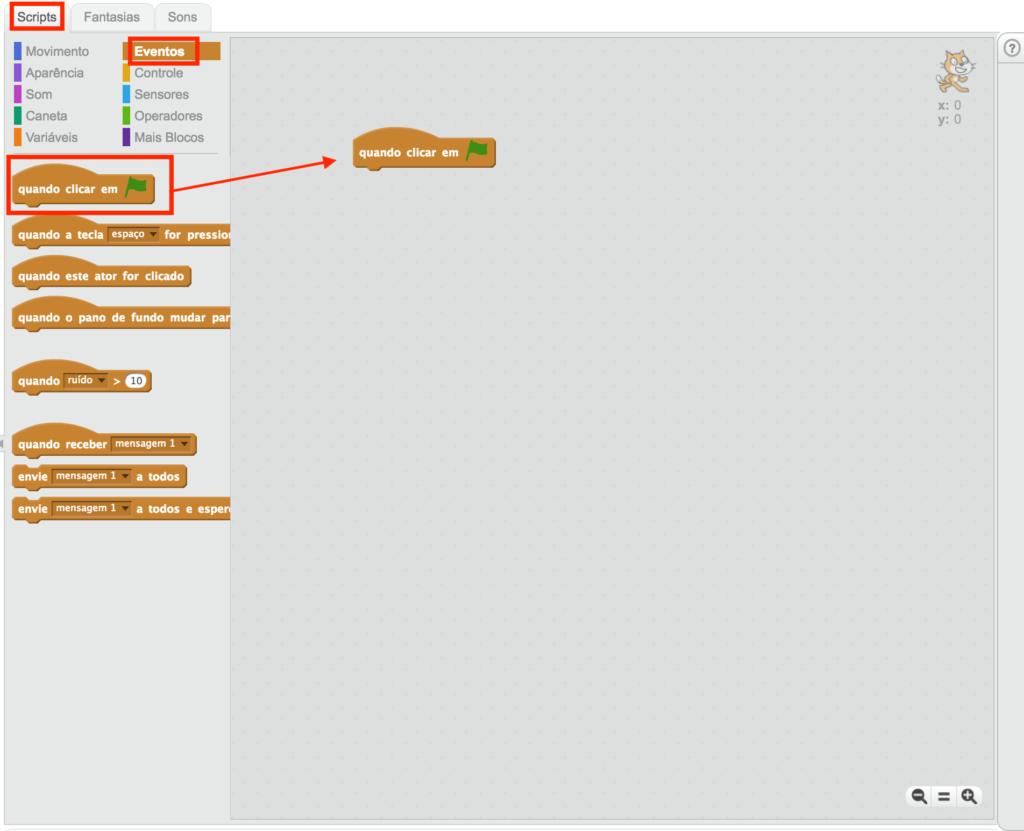 Como ver se o projeto está funcionando no Scratch