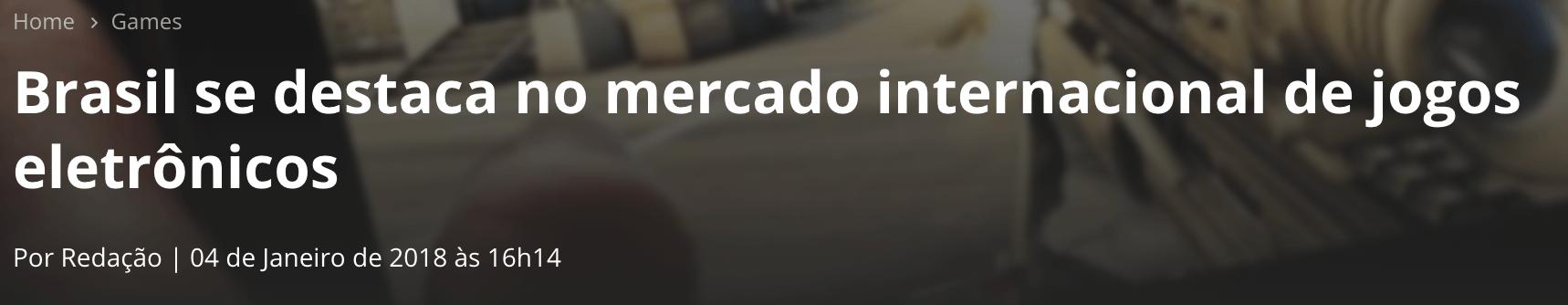 Brasil Destaque no Mercado Interacional de Jogos Eletrônicos