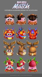 Angry Birds Match Ilustrações