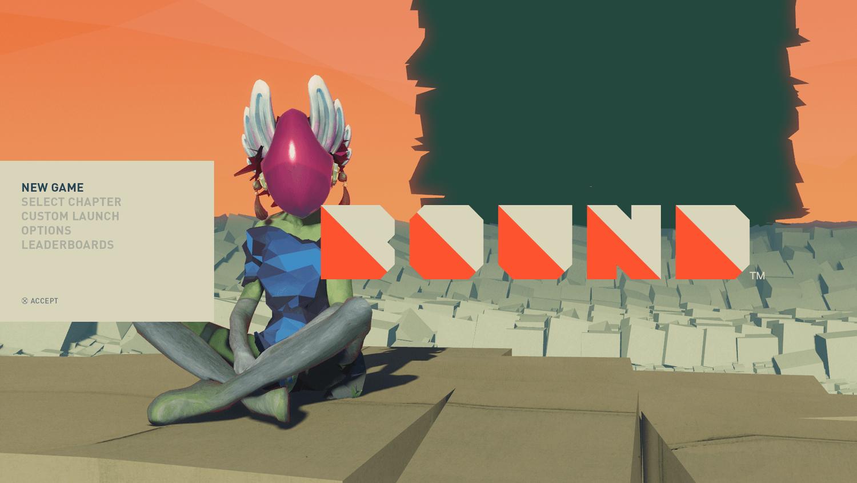 Interface do jogo Bound