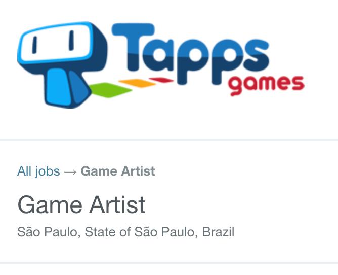 Vaga Design Gráfico Tapps Games