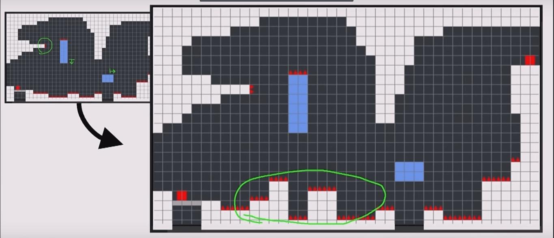 outra mudança nos elementos de uma fase do jogo Celeste