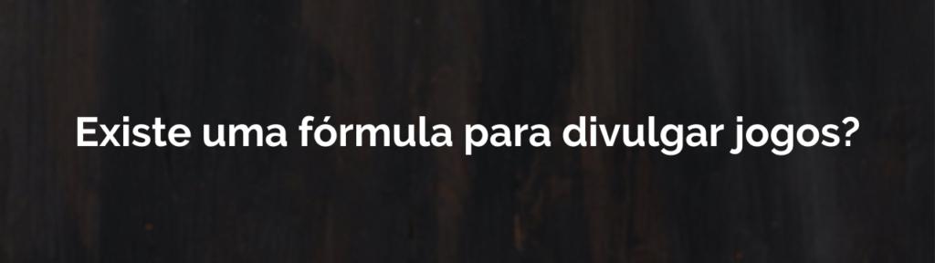 Fórmula para marketing de jogos